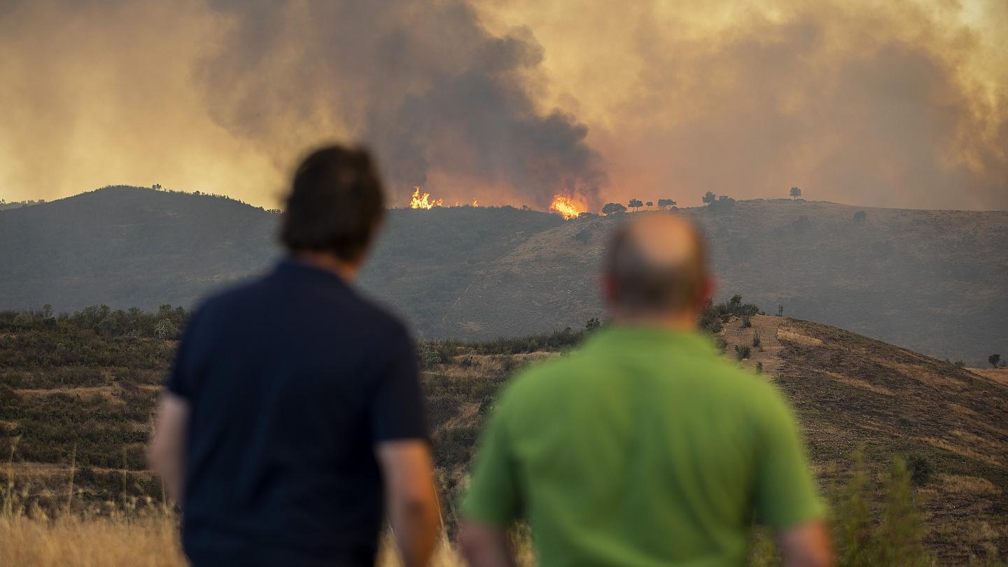 A massive wildfire is raging in Spain's southern Andalusia region, which has forced more than 3,100 people to evacuate their homes