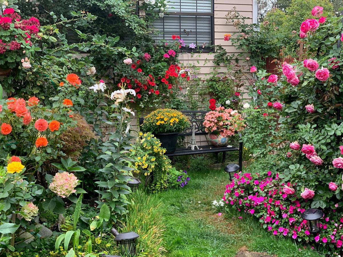 Dreamlike Vietnamese flowers and veggies garden in the US