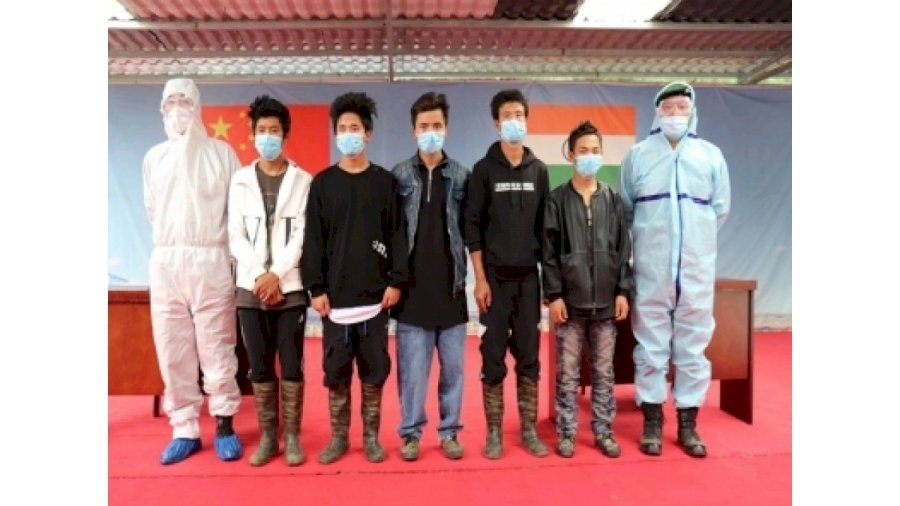 Five Indian missing nationals were handed over by China's People Liberation Army