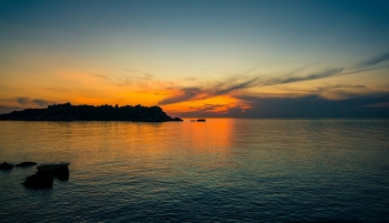Gorgeous glow of sunset in the Easternmost point of Vietnam
