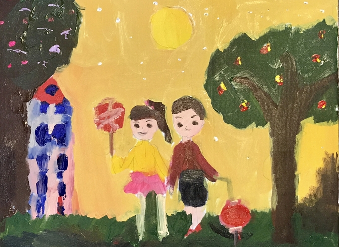 Festive Mid-Autumn vibes through children's drawings