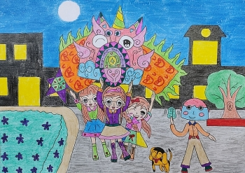 festive mid autumn vibes through childrens drawings