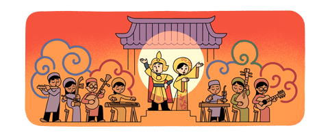 Google Doodle hornors Vietnam's Cai Luong (reformed theater)
