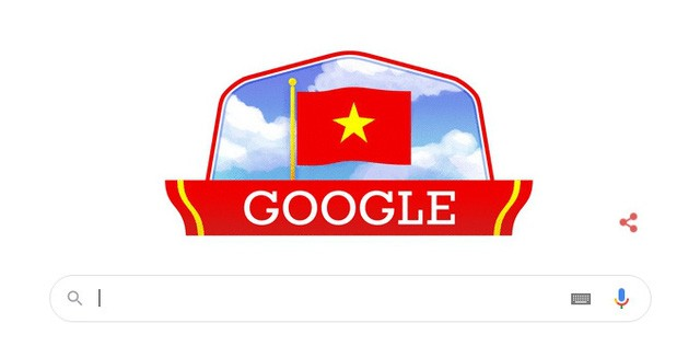 Google Logo Features Vietnam Flag on National Day