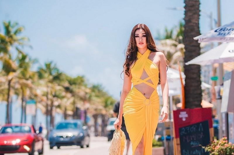 Vietnamese Beauty Khanh Van among Top 20 of Miss Grand Slam 2020