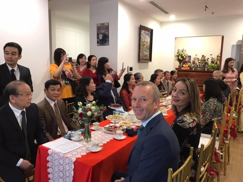 British Ambassador makes great groom's representative on Scottish-Vietnamese couple's marriage