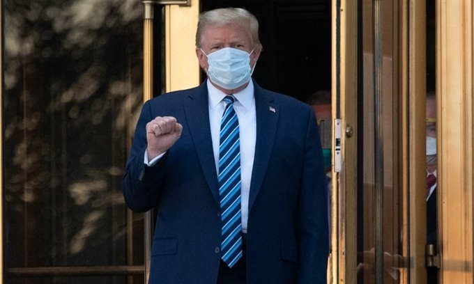 trump discharged from hospital after three days leaving stock market on the rise