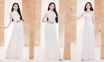 traditional ao dai accentuates top miss vietnam contestants
