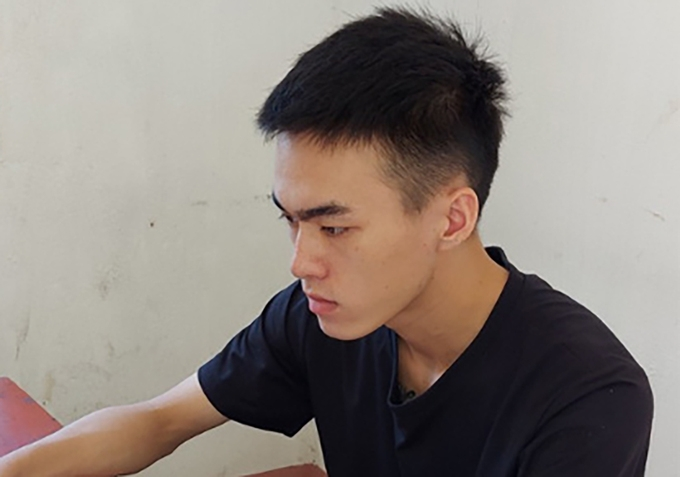 Tran Tien Manh sold his girlfriend for barely US $645 (Photo by police)