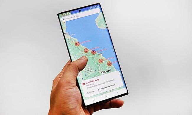 Google Maps warns of flood-stricken areas in Central Vietnam