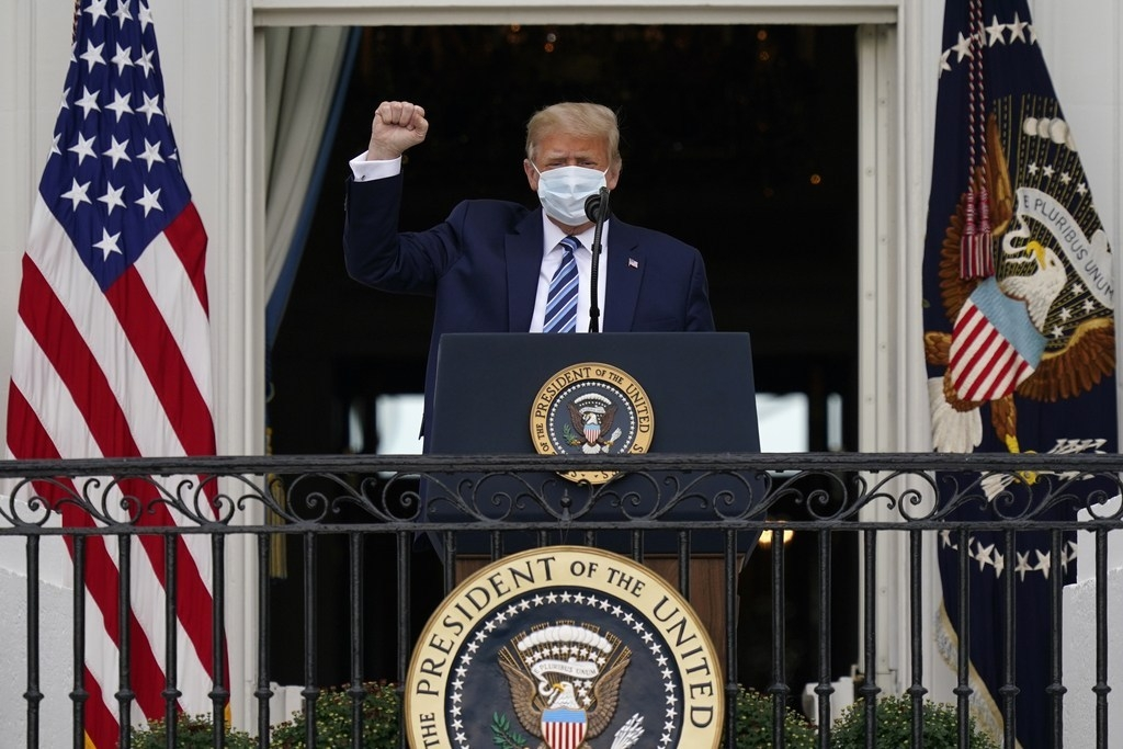 world breaking news today october 11 trump first appears in public since hospitalization for covid 19