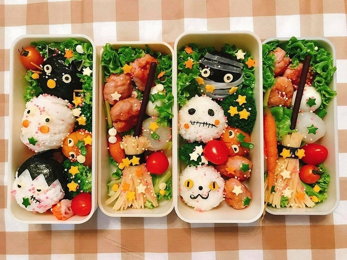 Phuong's creative bento for her daughters (Photo courtesy of Thu Phuong/ via VNE)