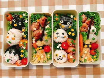 creative bentos of an oversea vietnamese in the land of rising sun