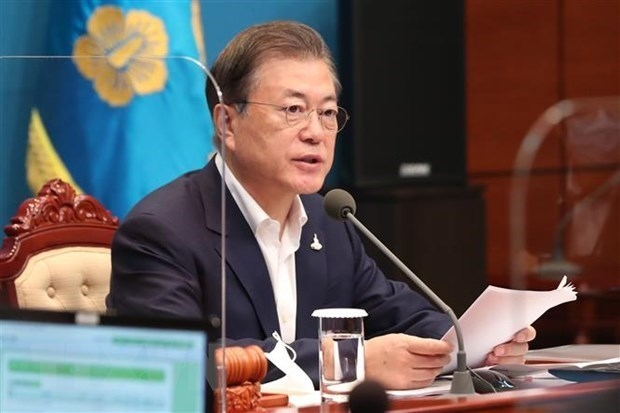 rok president moon jae in appreaciates vietnams enormous support