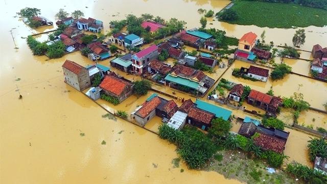 A bird-eye view of Central Vietnam in flood (Photo: Nhan Dan)
