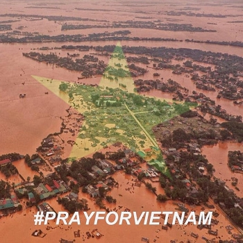 flood in central vietnam foreign netizens pray for vietnameses safety