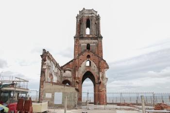 unspoiled beauty in coastal fallen church northen vietnam