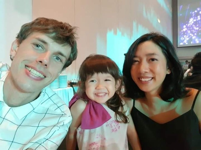 Slowik, his wife and their first child (Photo courtesy of Ondrej Slowik/ via Thanh Nien)