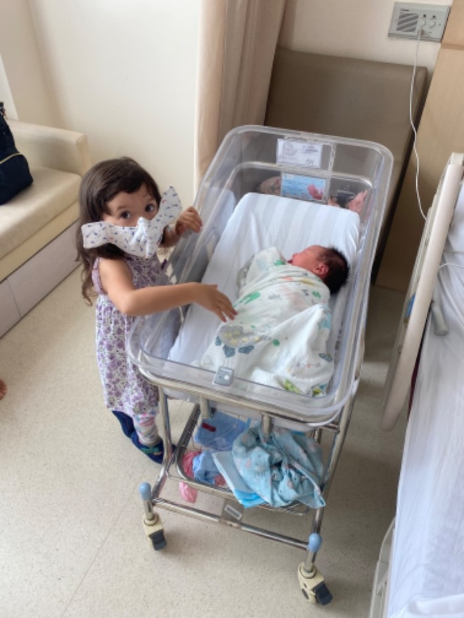 Their second child was born last month (Photo courtesy of Ondrej Slowik/ via Thanh Nien)