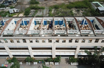 flood in central vietnam hcmcs school roof blown off due to eavy storm