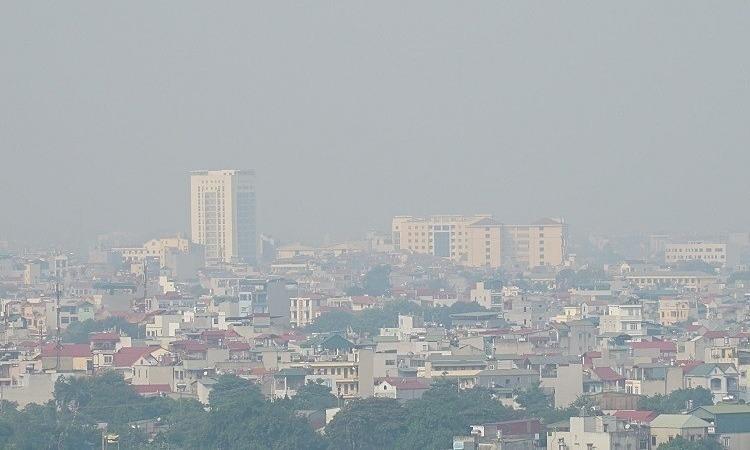 Smog covers Hanoi in the morning on September 30, 2019. (Photo: VNE)
