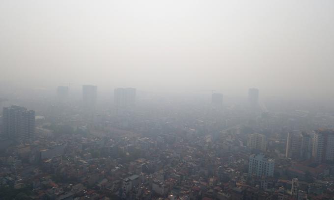 Smog in Hanoi in the morning on September 30, 2019 (Photo: VNE)