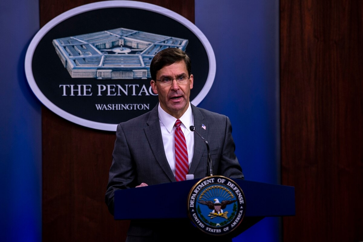 President Donald Trump on Monday said, in a tweet, that he had fired Defense Secretary Mark Esper (Photo: Military Times)