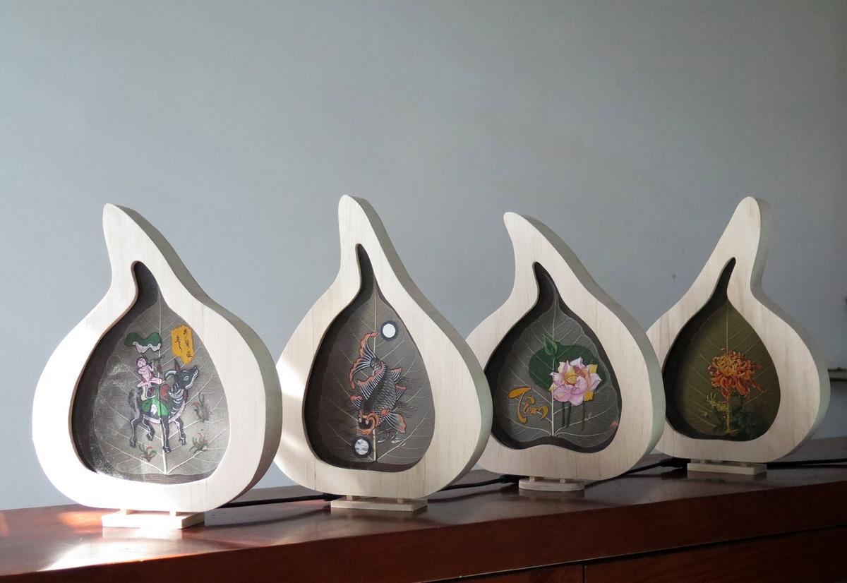 Vietnamese artist breathes new soul for bodhi leaves