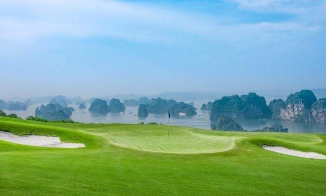 FLC ha long golf club overlooks bay in quang ninh province, northern vietnam. (photo courtesy of flc club)