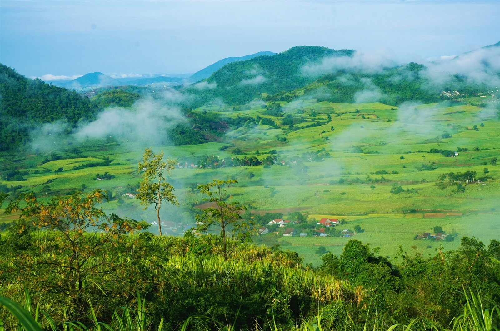 An aerial view of Van Hoa Plateau (Photo: Foody)