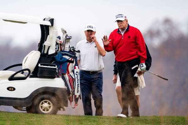U.S. President Donald Trump went golfing after making a brief online appearance at the G20 summit Saturday (Photo: MSN)