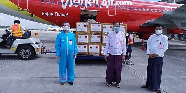 Vietnam sent another batch of 35,000 face masks to Myanmar