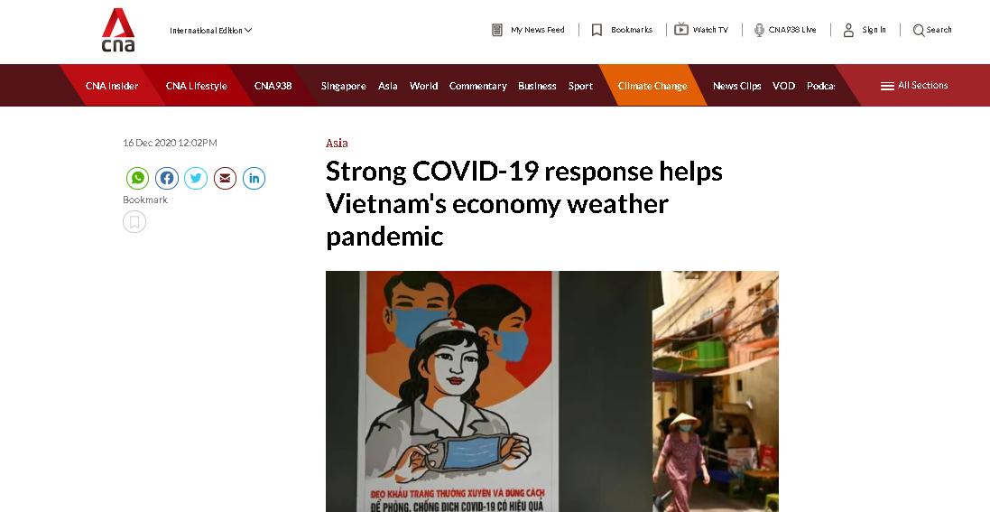 international press praises vietnams strong economic growth during pandemic