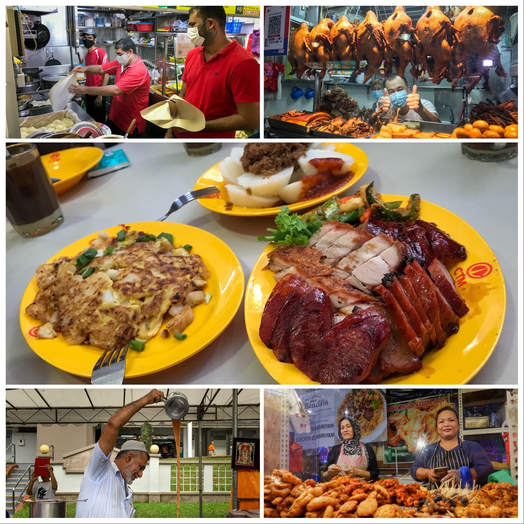 Hawker dishes in Singapore (Photo courtesy of PM Lee Hsien Loong)