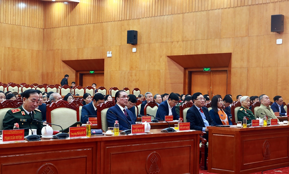 Participants to the ceremony marking the 75th anniversary of Viet Nam's first General Election Day. (Photo: VGP)