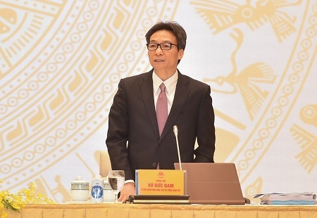 Deputy Prime Minister Vu Duc Dam speaks at the Government's conference with localities on December 29, 2020. Photo: VGP