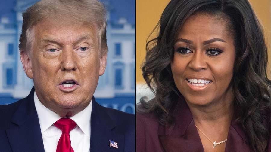 President Trump and former first lady Michelle Obama were named the most admired man and woman in 2020 (Photo: KCCI)