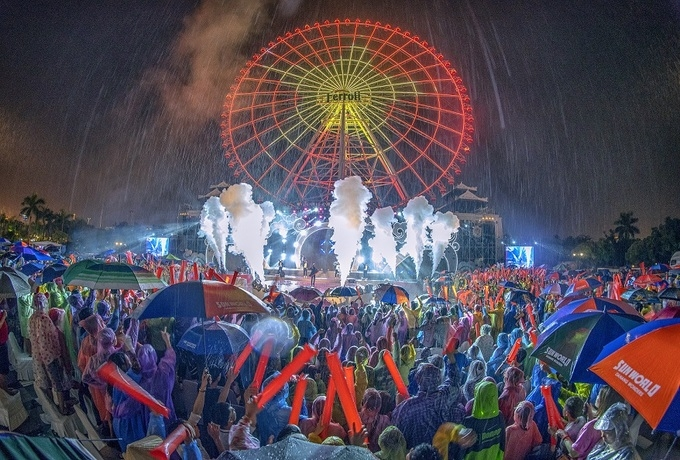 Celebrative music show will take place at Sun Wheel (Photo: VNE)