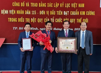 First Vietnam hospital awarded Diamond Status for stroke treatment