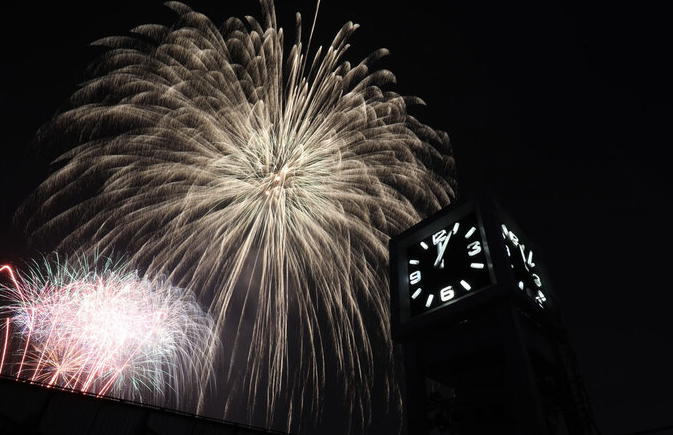 Watch New Year fireworks from up close with video
