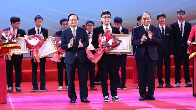 students winning international olympic awarded labor medals