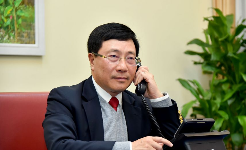 vietnam deputy pm pham binh minh held phone talks with us national security adviser