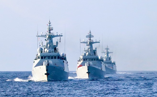 china flaunts warships to impose threats in the bien dong sea