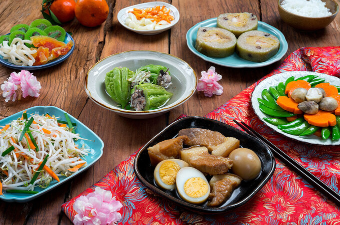 indispensable specialties on vietnams southern tet food tray