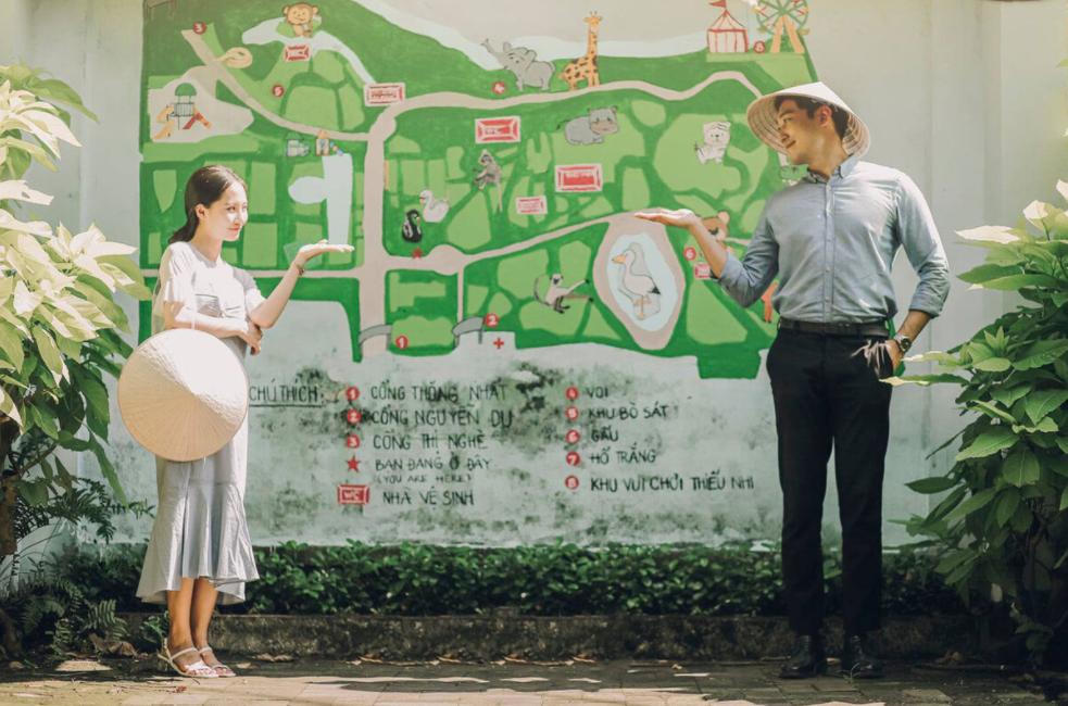 Saigon oldest zoo becomes romantic backdrop for Vietnamese - Korean couple's photoshoots