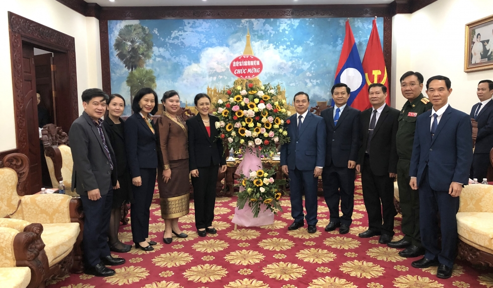 VUFO, Vietnam-Laos Friendship Association visit Laos Embassy in traditional New Year