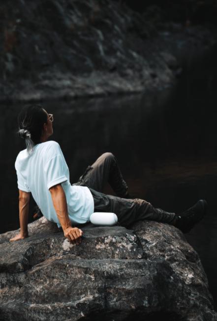 Lost in heaven scene in the waterfall of Hang En
