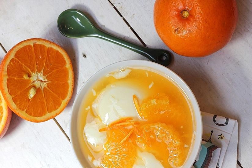 Recipe: Orange & bean curd sweet soup to cool down summer's heat