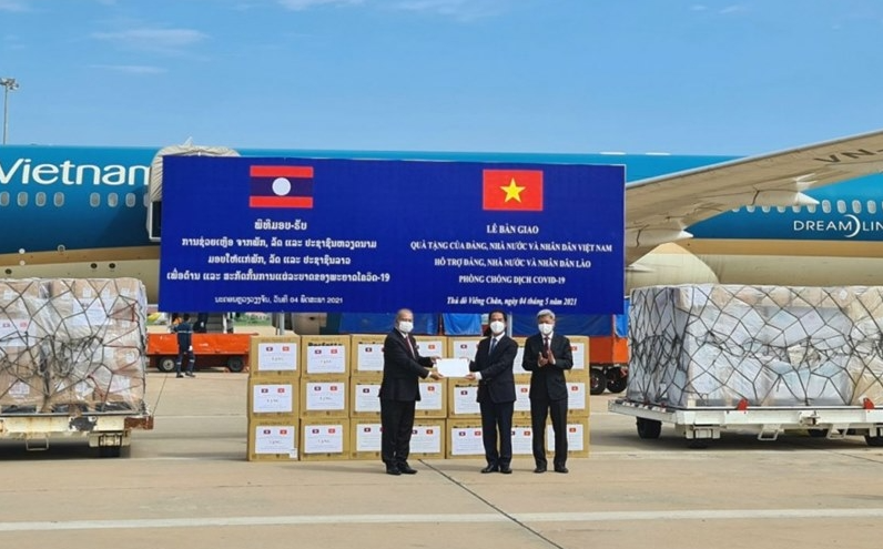Vietnam - first country to send much needed financial, medical support to help Laos fight COVID