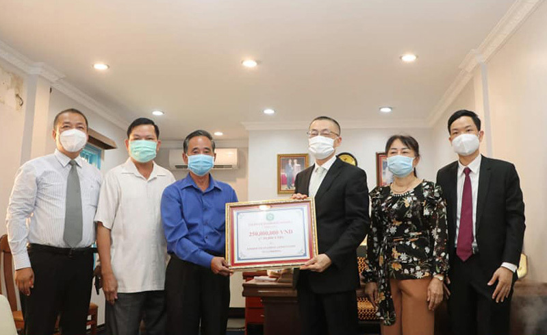 Cambodian television: Vietnam Embassy actively participates in preventing COVID-19